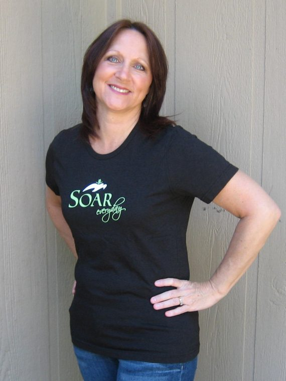 Soar Everyday - Black tee